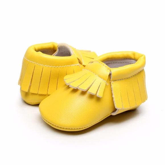 Yellow Soft Sole Baby Moccasins   Poshmark